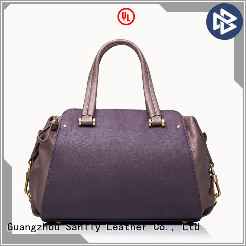 Sanlly durable best women's leather handbags customization for shopping