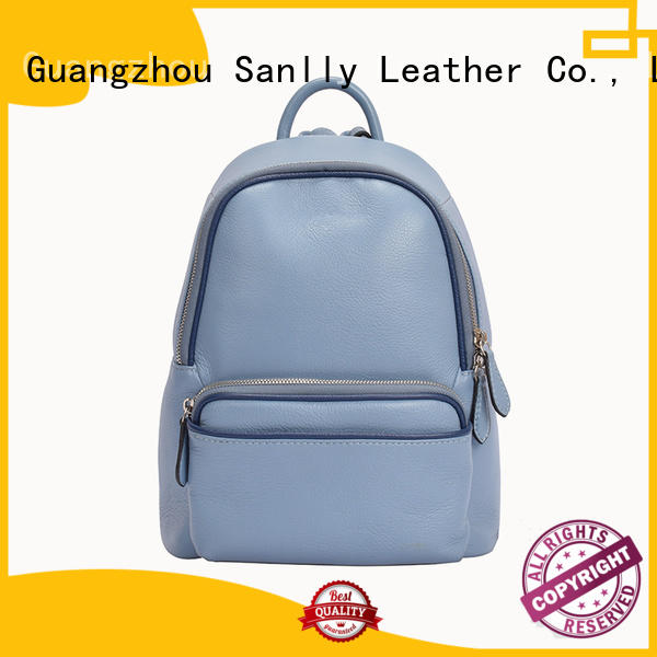Sanlly on-sale top leather backpacks customization for girls