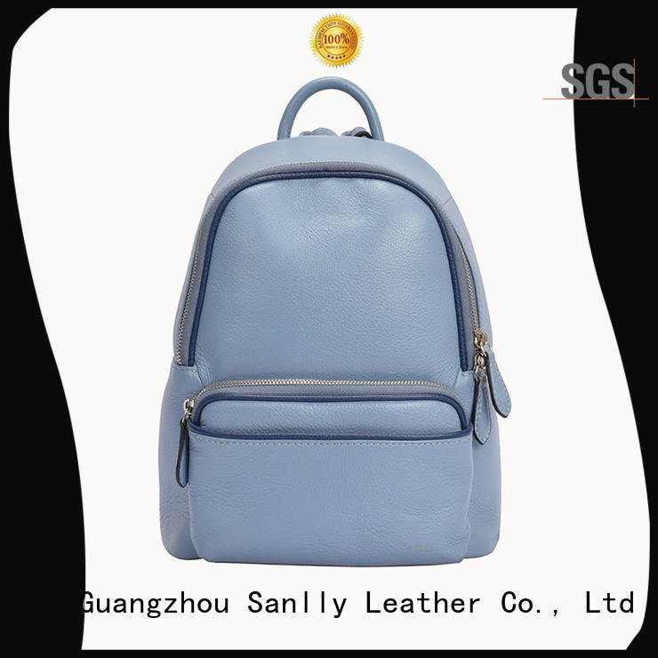 Sanlly top womens leather backpack bags supplier for girls