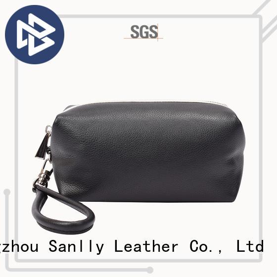 Sanlly on-sale women's leather wristlet wallet OEM for women