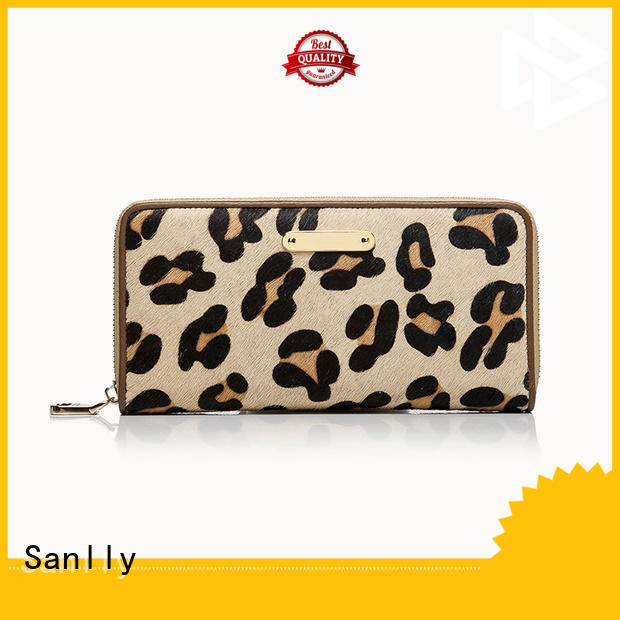 Sanlly Latest leather card wallet ladies Suppliers for single shoulder