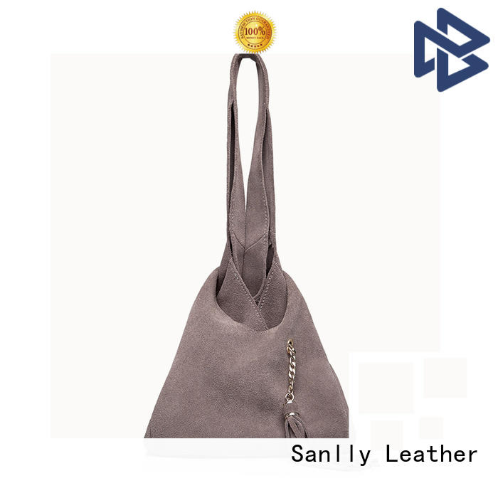 Sanlly solid mesh leather satchel handbags for business for shopping