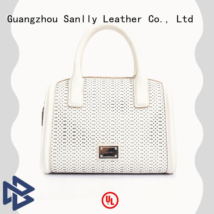 Sanlly high-quality small leather handbag haircalf for girls