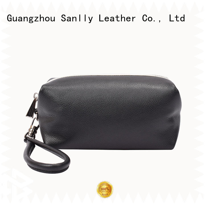 Sanlly high-quality leather wristlets for women ODM for women