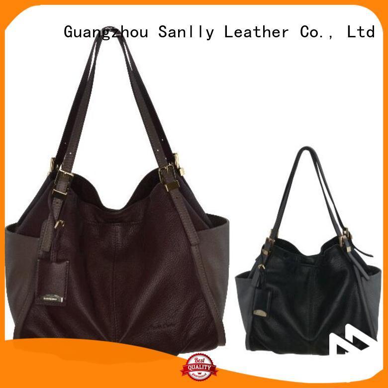 custom ladies leather handbags wristlet leopard haircalf design for summer