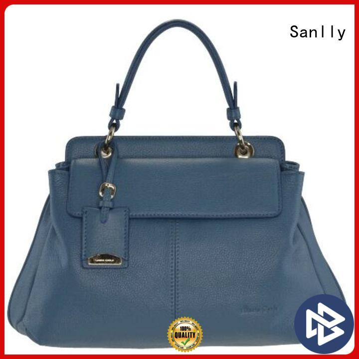 Sanlly leather ladies leather handbags leopard haircalf design for winter