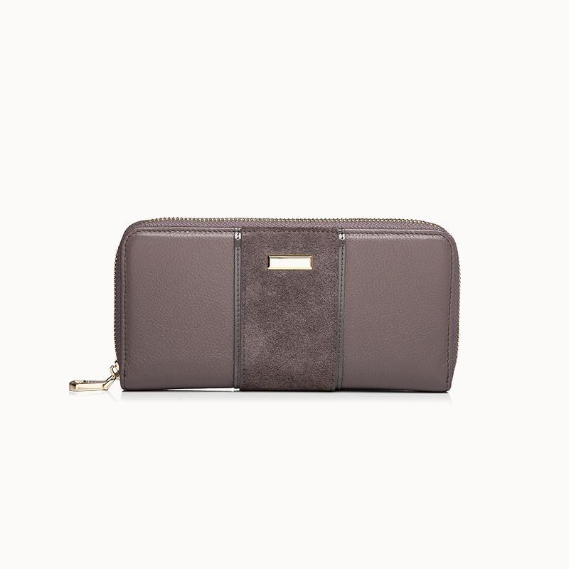 Leather Zip Wallet Ladies Long Zip women wallet online  women wallet on sale