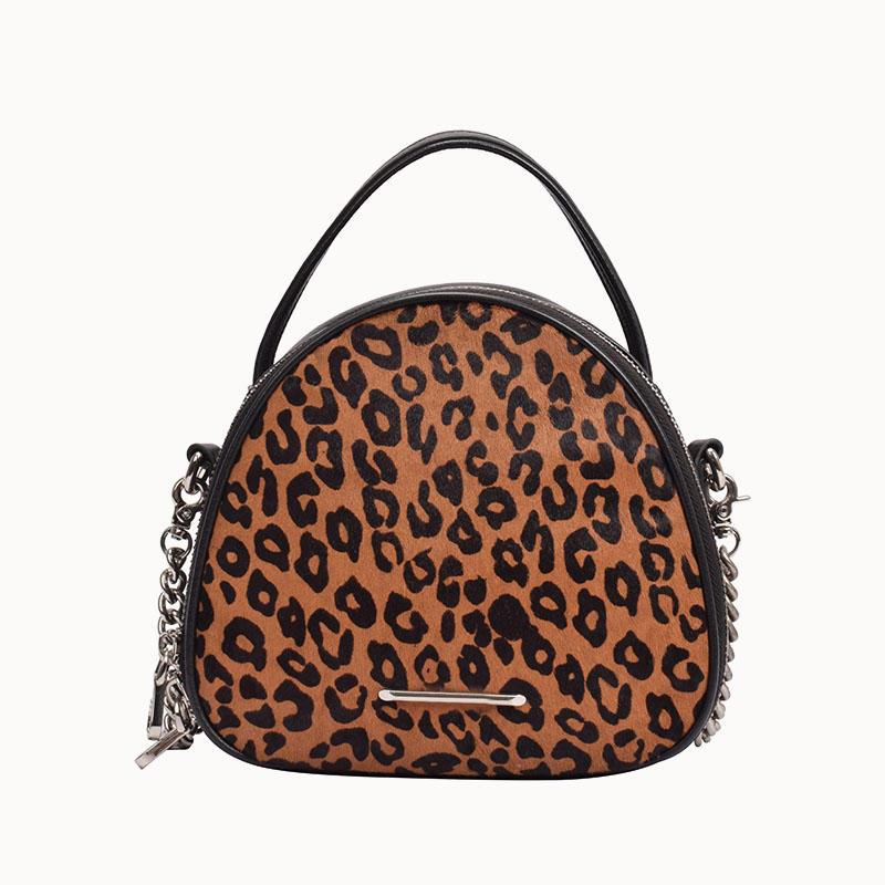 Style Leopard Print Hair Calf Bag crossbody handbag for women