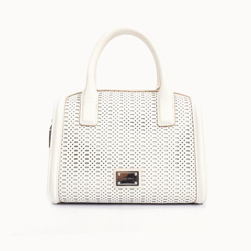 Small Eyelet Work Design Leather Bag/ Satchel bag for ladies