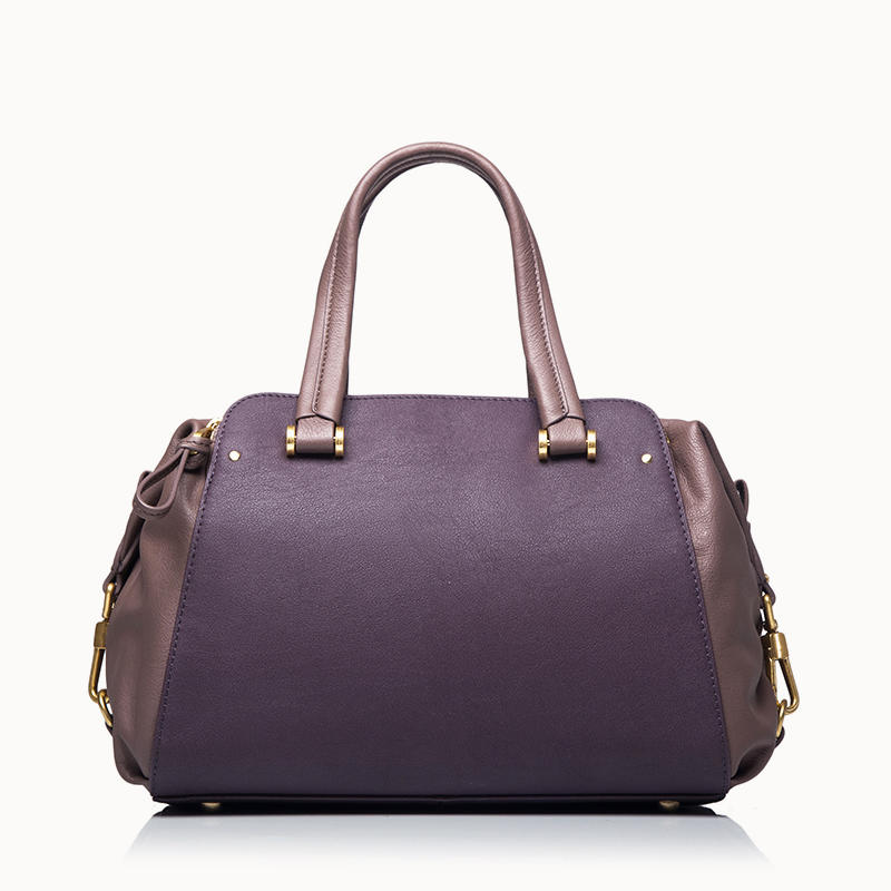 Satchel With Two Leather Combination women handbag female handbag  ladies satchel