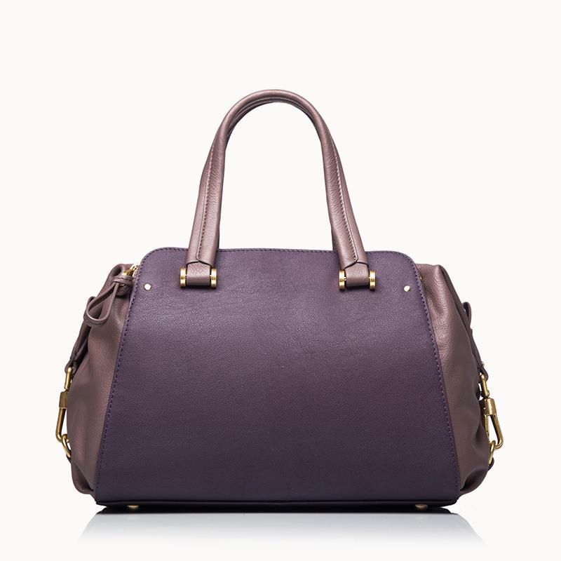 Satchel With Two Leather Combination women handbag female handbag  ladies satchel