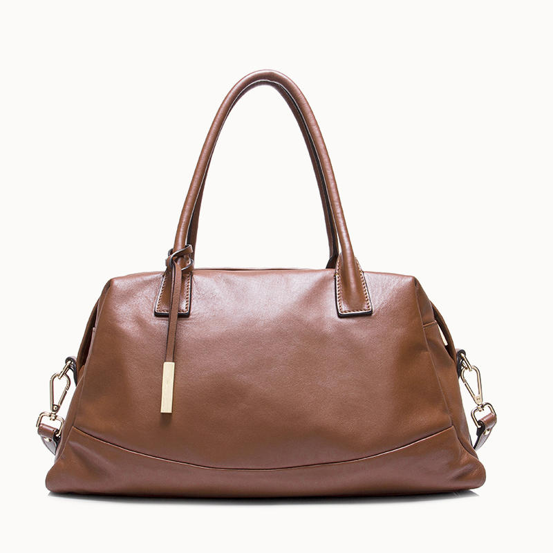 Stylish Shape Leather Satchel for ladies women shoulder handbag genuine leather handbag