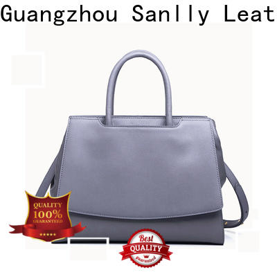 Sanlly Wholesale black leather side bag bulk production for girls