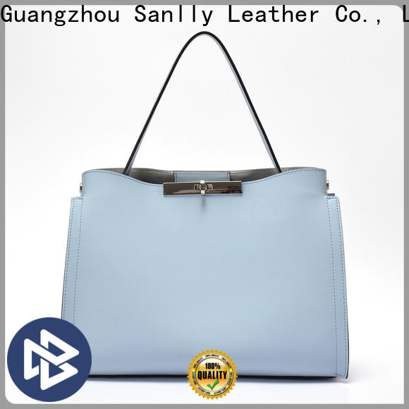 Sanlly leather ladies brown handbags company for women