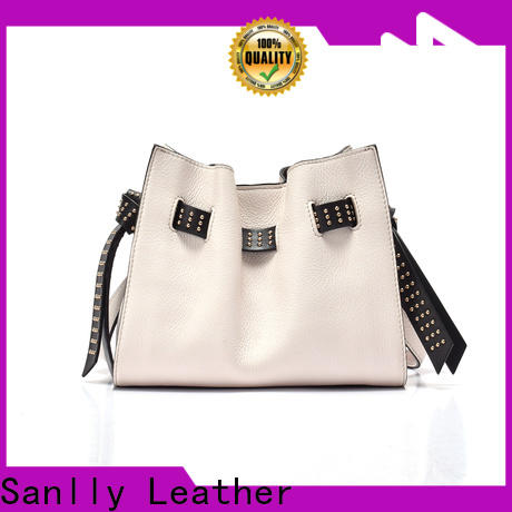 Sanlly leather womens hand bag for business for women