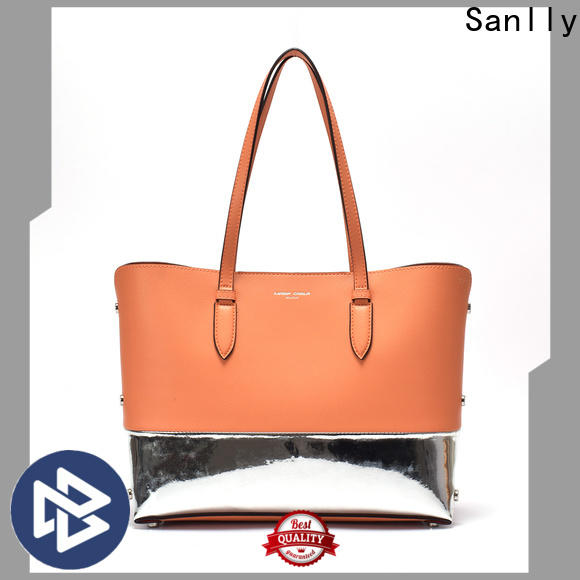 Sanlly leather it leather handbags bulk production for girls