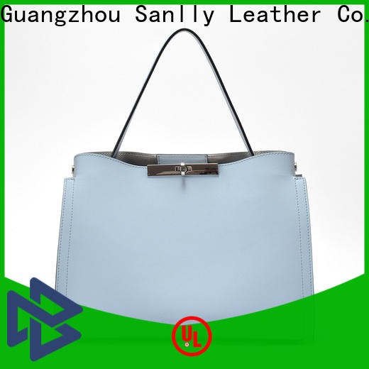 Sanlly purple blue leather handbags and purses Supply for modern women