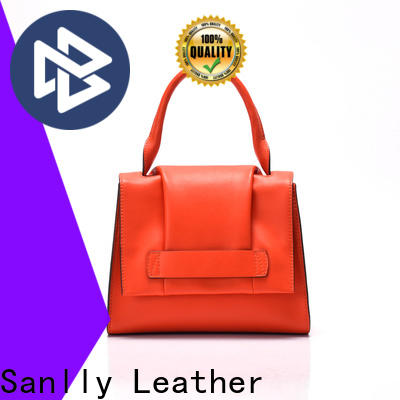 Sanlly portable blue leather handbags and purses ODM for girls