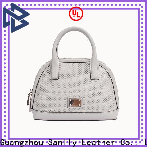 Custom ladies black leather purse nappa ODM for girls