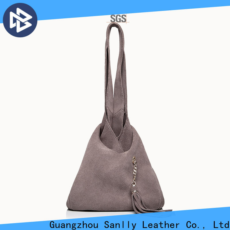 Breathable durable leather tote bags womens Supply for single shoulder