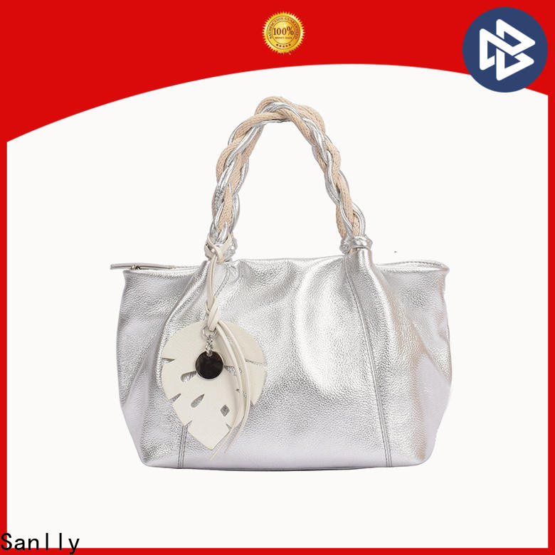 Sanlly business leather handbag sale online bulk production for girls