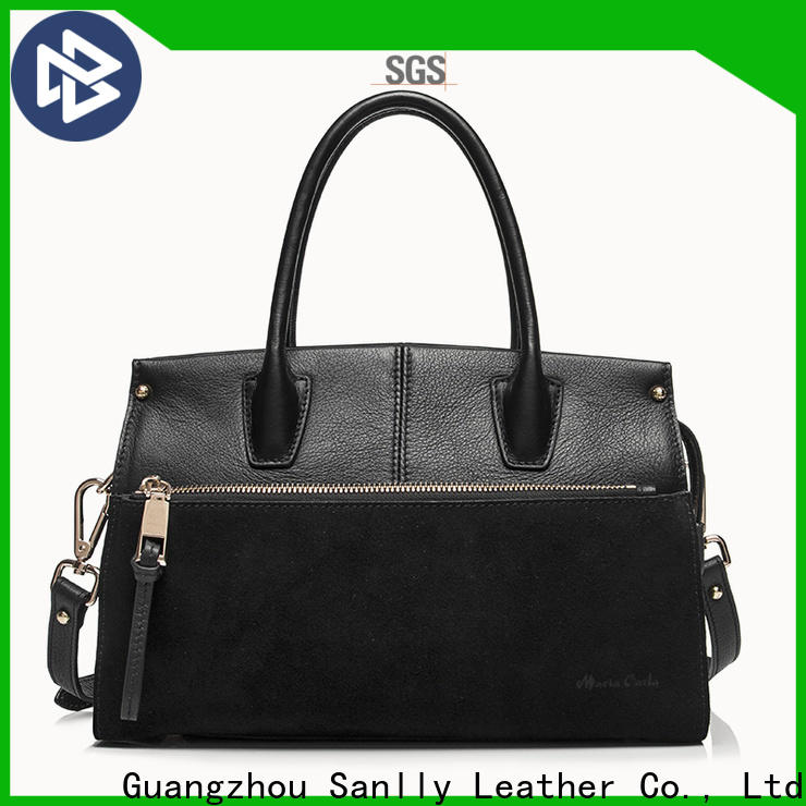 Sanlly classic black satchel purse Supply for shopping