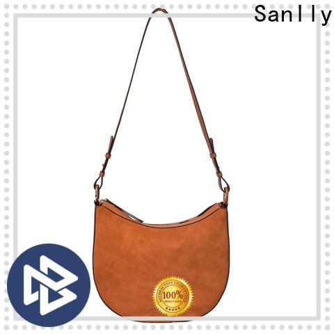 Sanlly Latest leather messenger bag for women free sample for modern women