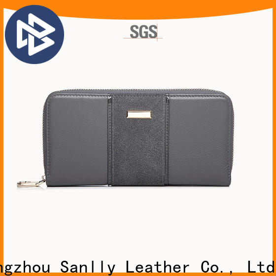 Sanlly lady womens trifold leather wallet for wholesale for shopping