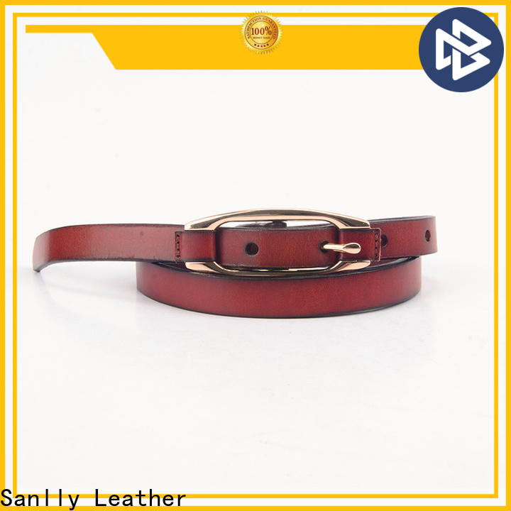Custom mens black dress belt metal customization for girls