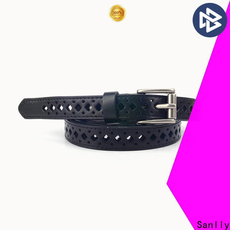 Sanlly leather ladies tan leather belt manufacturers