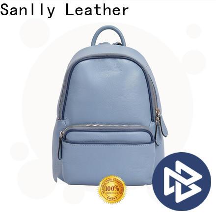 Sanlly design black leather backpack sale factory for modern women