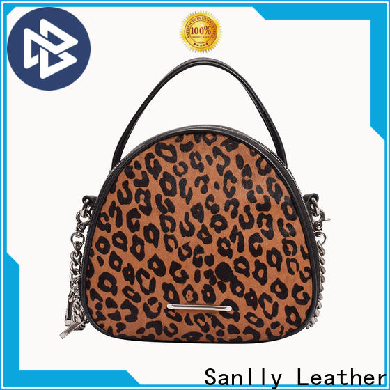 Sanlly red leather crossbody purse company for shopping