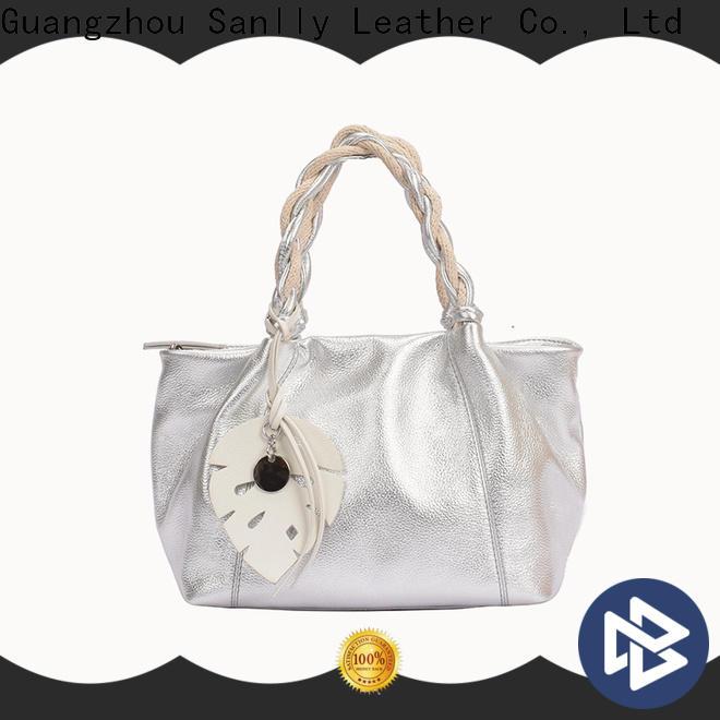Sanlly New black satchel purse for shopping