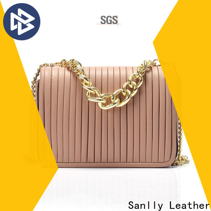 Sanlly leather green leather handbags for business for women