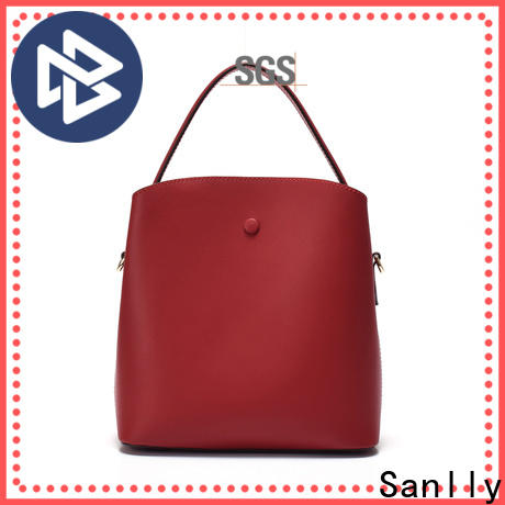 Sanlly wristlet ladies leather shoulder bag for business for women