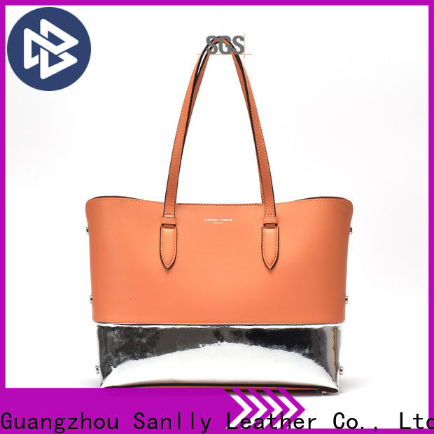 Sanlly fashion blue leather handbags and purses ODM for girls