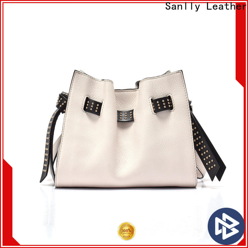 Sanlly daily brown leather side bag buy now for shopping