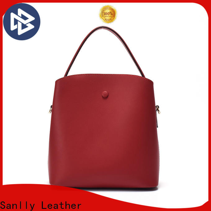 Sanlly leather ladies small leather shoulder bags customization for modern women