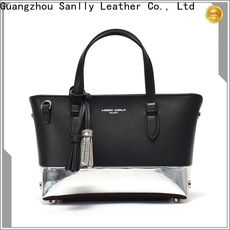 Sanlly High-quality blue leather handbags and purses for wholesale for women