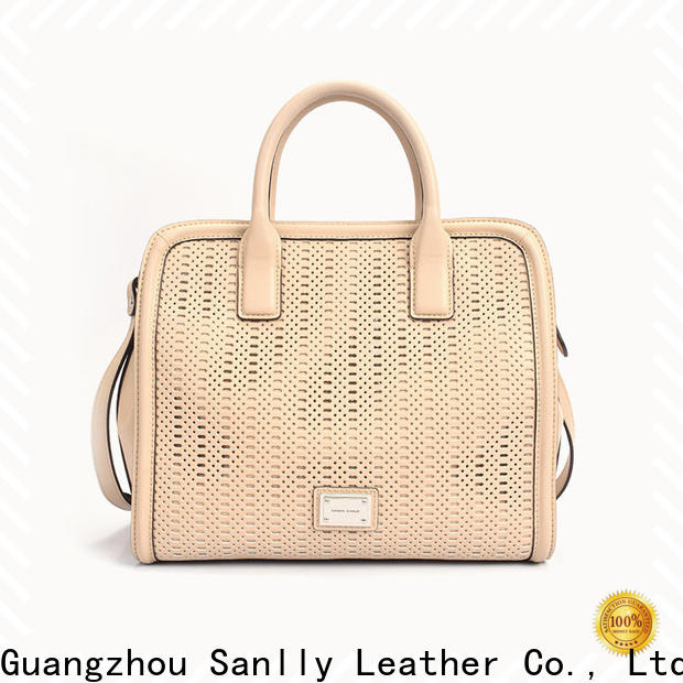 Wholesale leather satchel red factory for shopping