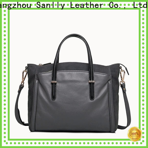 Sanlly womens leather tote handbags on sale OEM for shopping