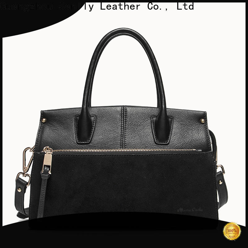 latest leather messenger bag for women metal customization for women