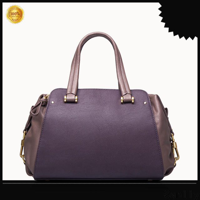 Sanlly High-quality leather tote handbags ODM