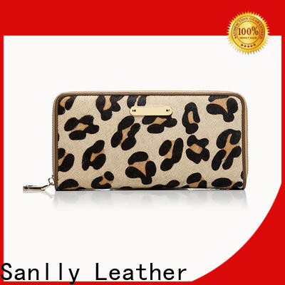 Sanlly Breathable female leather wallet customization for women