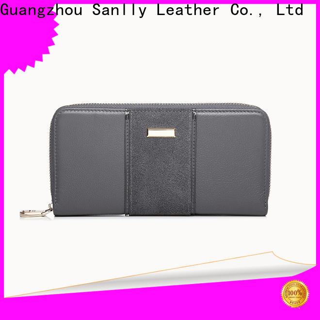 Sanlly zipper ladies folding wallets factory for girls