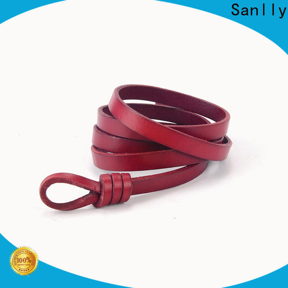 Sanlly leather thin silver belt ladies manufacturers