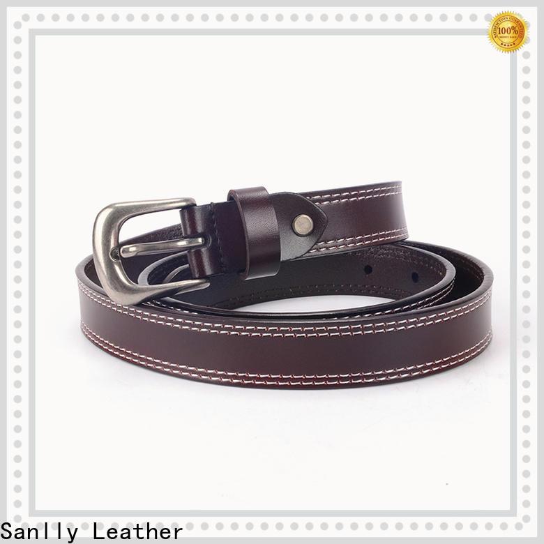 Top mens full leather belts vegtan free sample for girls