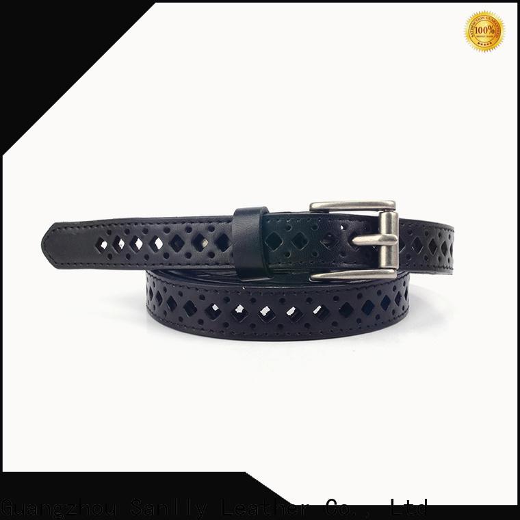 funky black braided belt women's customized Suppliers