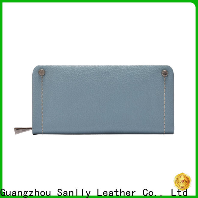 Sanlly New brown leather wallet womens OEM for single shoulder