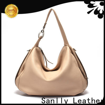 Sanlly leather tote and shoulder bags customization for shopping